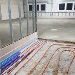 SF-Bau-Fußbodenheizung und Estricheinbau-Erweiterung best. Halle mit Büro-Jebenhausen-Stahlbau-Schlüsselfertigbau