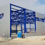 SF-Bau-Isowand-Anbau Halle-Eschenbach-Stahlbau-Schlüsselfertigbau