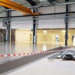 SF-Bau-Bodenbeschichtung-Außenanlagen-Erweiterung best. Halle mit Büro-Jebenhausen-Stahlbau-Schlüsselfertigbau