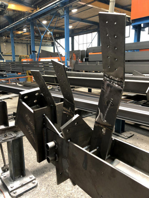 Stahlbau-Stahlbaufertigung-Neubau Sport- und Familienbad-Konstanz