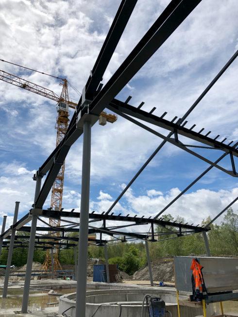 Stahlbau-Stahlbaukonstruktion-Neubau Sport- und Familienbad-Konstanz-Stahlbauarbeiten
