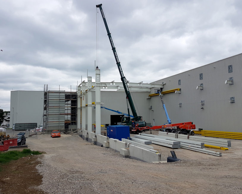 Stahlbau-Tragkonstruktion-Hallenerweiterung-Nürtingen