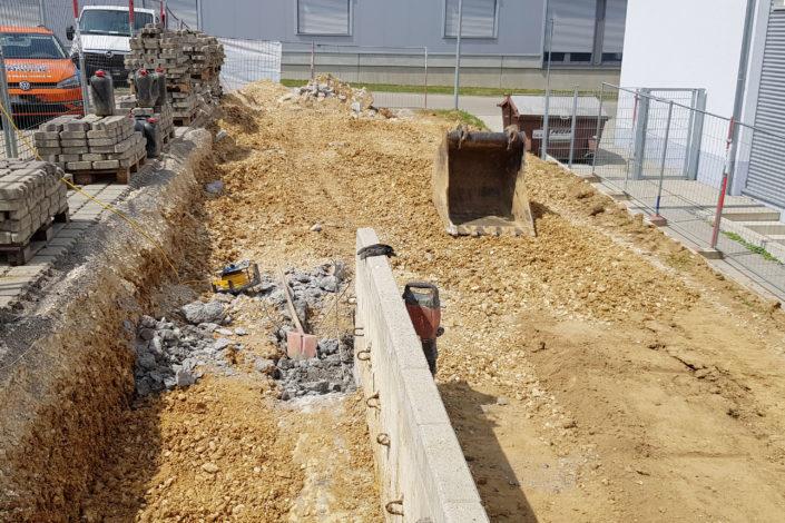 SF-Bau-Kick-Off-Start Rohbauarbeiten-Erweiterung best. Produktionshalle-Jebenhausen-Stahlbau-Schlüsselfertigbau