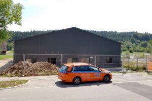 SF-Bau-Außenanlagen-Neubau Halle mit integriertem Büroteil-Schwäbisch Gmünd-Stahlbau-Schlüsselfertigbau
