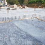 SF-Bau-Bodenplatte betonieren-Erweiterung best. Produktionshalle-Jebenhausen-Stahlbau-Schlüsselfertigbau