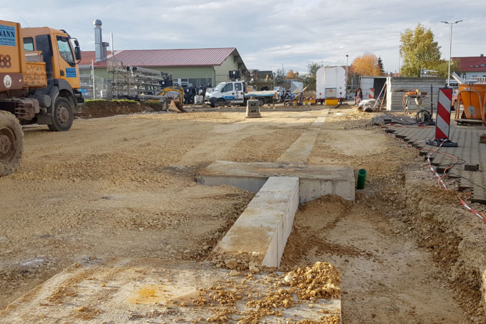SF-Bau-Rohbauarbeiten-Neubau Lagerhalle-Nellingen-Stahlbau-Schlüsselfertigbau