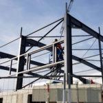 SF-Bau-Stahlbaumontage-Erweiterung best. Produktionshalle-Jebenhausen-Stahlbau-Industriebau-Schlüsselfertigbau