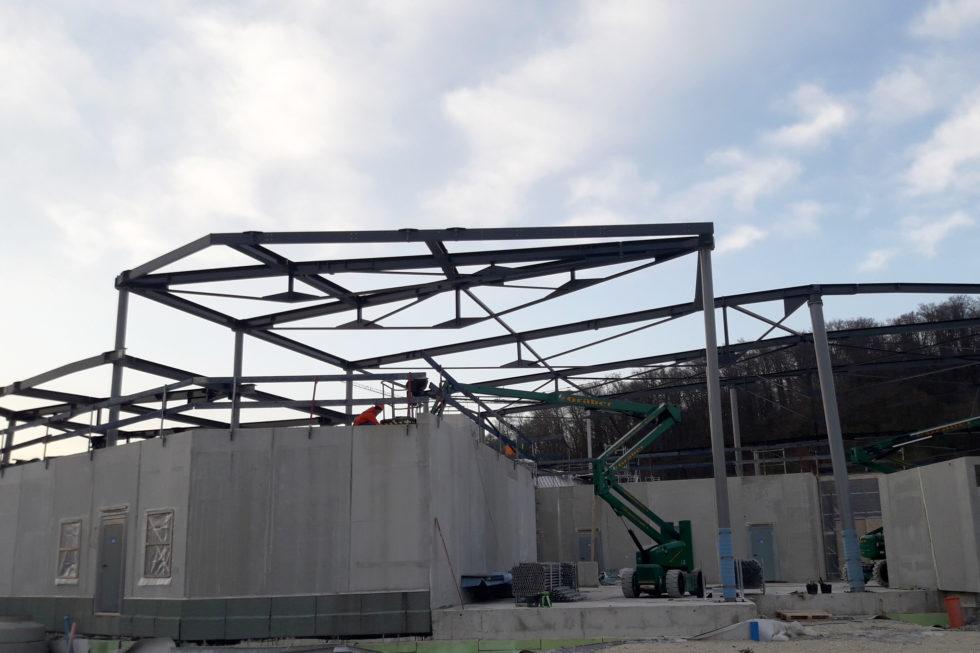 Stahlbau, Neubau Sport- und Familienbad-Konstanz