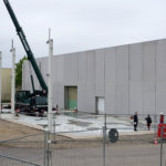 I-Bau-Montagestart Stahlkonstruktion-Anbau Logistikhalle-Illertissen-Stahlbau-Industriebau-Komplettbau