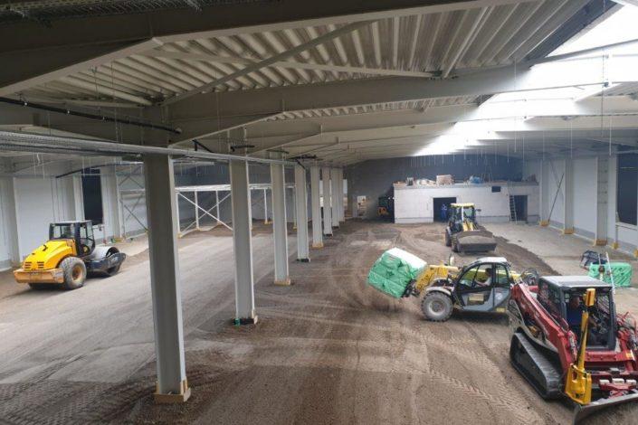 Sf-Bau-Stahlkonstruktion Vordach-Innenausbau-Neubau Produktionshalle-Göppingen-Stahlbau-Schlüsselfertigbau
