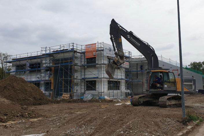 SF-Bau-Rohbau-Neubau Produktionshalle-Göppingen-Schlüsselfertigbau-Stahlbau