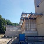 Stahlbau-Montage Stahlkonstruktion und Attika-Neubau Sport- und Familienbad-Konstanz
