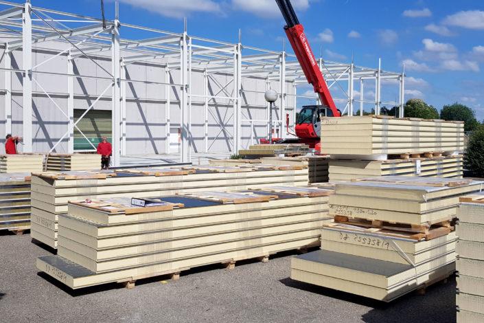 I-Bau-Fassadenbau-Anbau Logistikhalle-Illertissen-Stahlbau-Industriebau