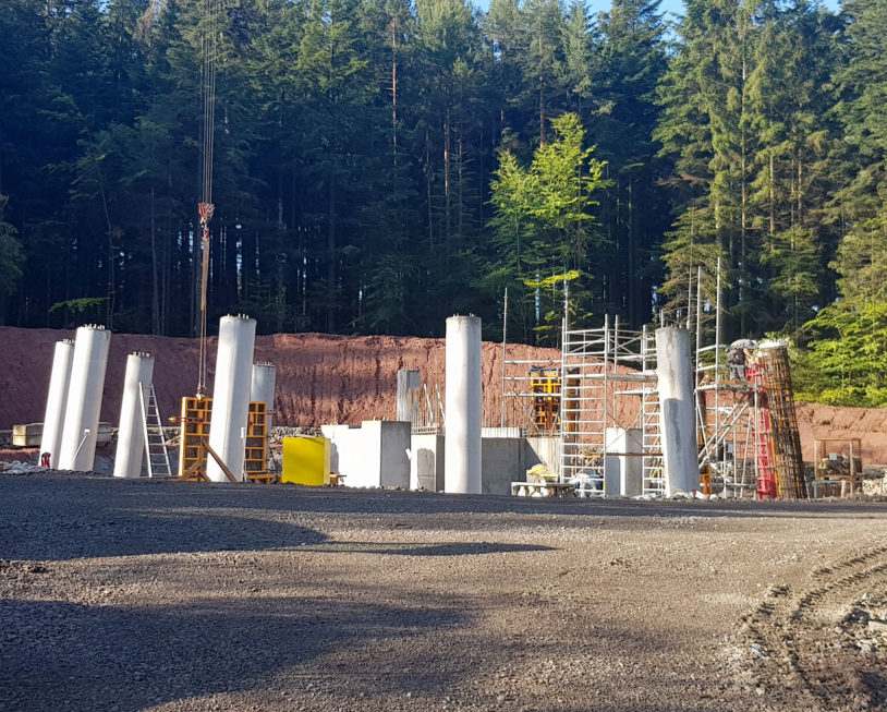 Stahlbau-Betonage 12 Apostel-Neubau Aussichtsturm-Schömberg-Stahlbau