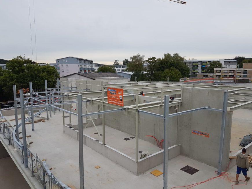 I-Bau-Stahlkonstruktion-Neubau Aldi Weilimdorf-Industriebau