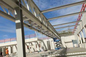 I-Bau-Start -Stahlbaumontage-Grötz-Sporthalle Hillerschule-Bietigheim-Bissingen-Stahlbau-Industriebau
