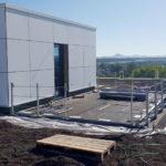 SF-Bau-Dachterrasse Einbau Extensive Begrünung -Neubau Produktionshalle mit Büro-Albershausen-Stahlbau-Schlüsselfertigbau