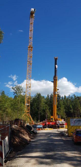 Stahlbau-Turmkran-Neubau Aussichtsturm-Schömberg-Stahlbau