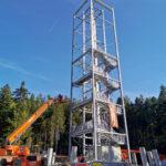 Stahlbau-Bauabschnitt 2-Neubau Aussichtsturm-Schömberg-Stahlbau