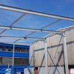 I-Bau-Stahlkonstruktion-Neubau Materiallagerhalle-Ebersbach-Industriebau