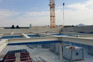 I-Bau-Stahlbauarbeiten-Neubau Getränkemarkt-Edeka-Göppingen-Stahlbau-Industriebau