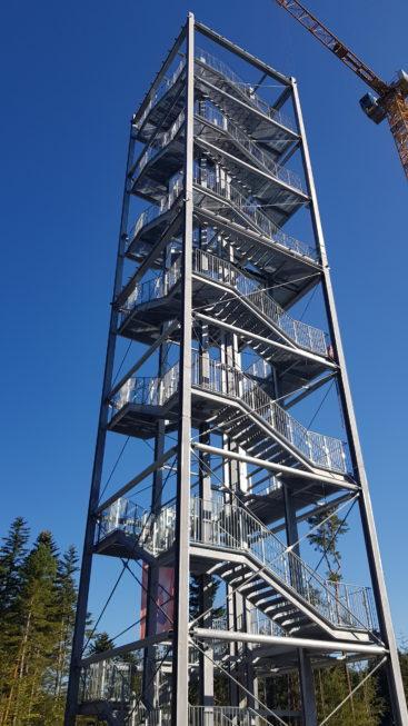 Stahlbau-Neubau Aussichtsturm-Schömberg