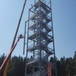 Stahlbau-Stahlbauarbeiten-Neubau Aussichtsturm-Schömberg