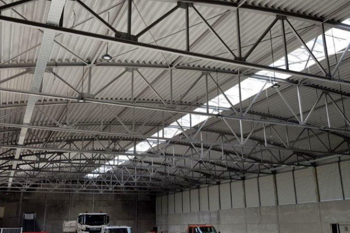 I-Bau-Abnahme Fertigstellung-Neubau Halle-Waiblingen-Industriebau