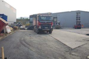 SF-Bau-Asphaltierarbeiten-Neubau Lagerhalle mit Büro-Eislingen-Stahlbau-Schlüsselfertigbau