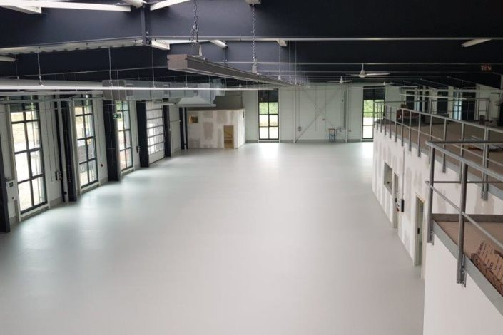 SF-Bau-Innenausbau-Neubau Produktionshalle mit Büro-Leutz Albershausen-Schlüsselfertigbau