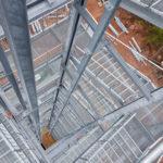 Stahlbau-Anlieferung und Beginn Holzbauarbeiten-Neubau Aussichtsturm-Schömberg-Stahlbau