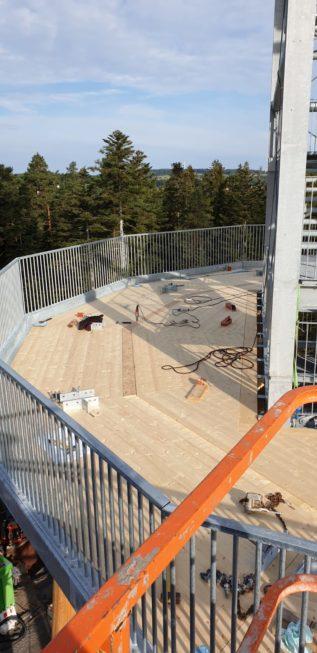 Stahlbau-Erste Ebene-Neubau Aussichtsturm-Schömberg-Stahlbau