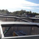 Stahlbau-Bauabschnitt 3 Kragträgermontage fertiggestellt-Neubau Sport- und Familienbad-Konstanz Schwaketenbad-Stahlbau