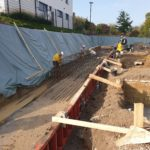 SF-Bau-Baustellenstart-Erdaushub-Neubau Betriebs- und Bürogebäude-Kernen-Rommelshausen-Schlüsselfertigbau