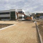 SF-Bau-Kreeb-Neubau Produktionshalle 1+2, Bürogebaude und Außenanlagen-Außenanlage-Göppingen Stauferpark-Schlüsselfertigbau