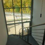 SF-Bau-Kreeb-Neubau Produktionshalle 1+2, Bürogebaude und Außenanlagen-Treppenhaus-Göppingen Stauferpark-Schlüsselfertigbau