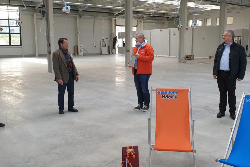 SF-Bau-Kreeb-Neubau Produktionshalle 1+2, Bürogebaude und Außenanlagen-Bauabnahme-Göppingen Stauferpark-Schlüsselfertigbau