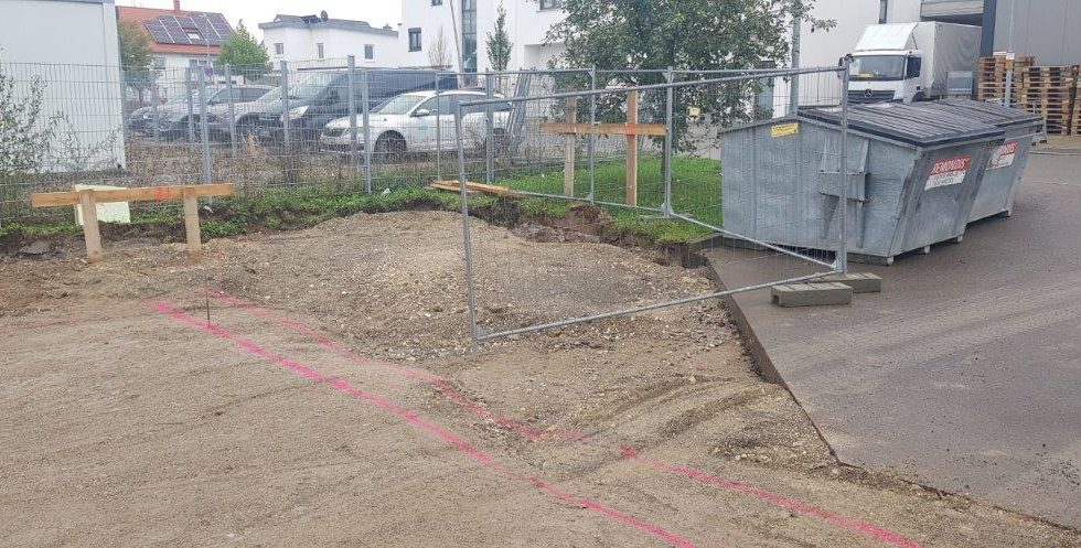 SF-Bau-Projektstart-Hallenerweiterung an bestehendes Gebäude-Unterensingen-Schlüsselfertigbau