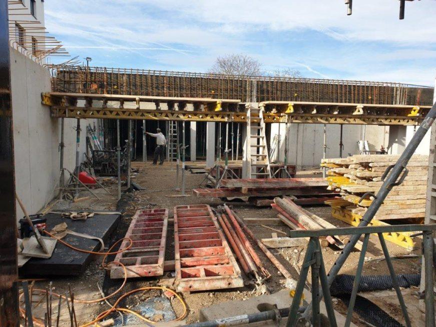 SF-Bau-Wände stellen-Neubau Betriebs- und Bürogebäude-Kernen-Rommelshausen-Schlüsselfertigbau