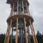 Stahlbau-Absprungplattform + Aussichtsplattform +Geländer montiert-Neubau Aussichtsturm-Schömberg-Stahlbau