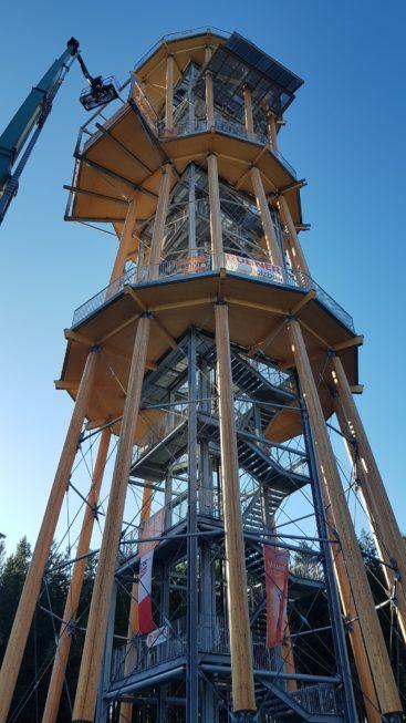 Stahlbau-Montage-Neubau Aussichtsturm-Schömberg-Stahlbau