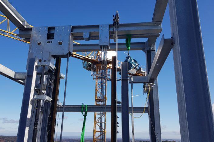 Stahlbau-Geländer Absprung Flying-Fox-Neubau Aussichtsturm-Schömberg-Stahlbau