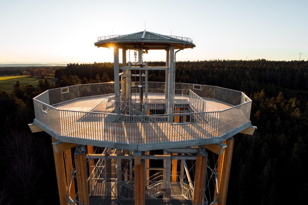 Stahlbau-Turmdach-Neubau Aussichtsturm-Schömberg-Stahlbau