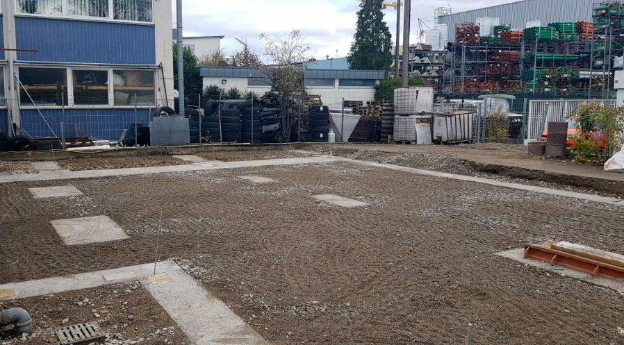 SF-Bau-Fundamente-Verlängerung Servicehalle-Kirchheim-Schlüsselfertigbau