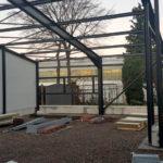 SF-Bau-Fassade-Verlängerung Servicehalle-Kirchheim-Schlüsselfertigbau