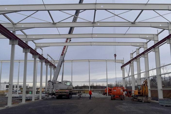 SF-Bau-Stahlkonstruktion-Neubau Produktionshalle + Verwaltungsbau-Pforzheim-Schlüsselfertigbau