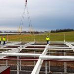 SF-Bau-Sockelblechmontage-Neubau Produktionshalle + Verwaltungsgebäude-Pforzheim-Schlüsslfertigbau