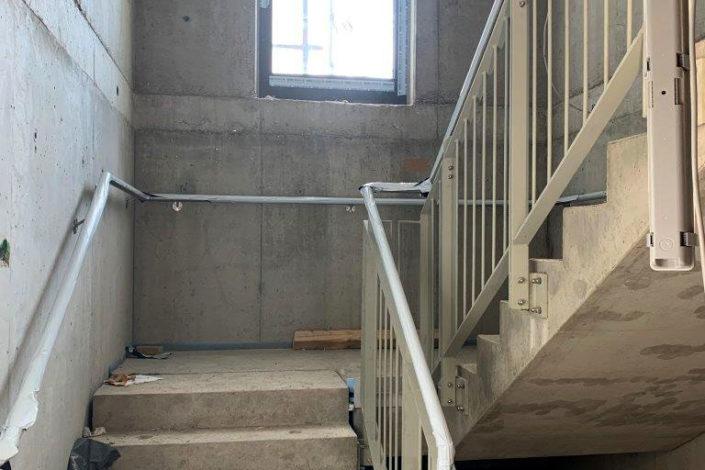 Schlosser- und Metallbauarbeiten-Treppenhaus-Neubau Areal-Eislingen-Schlosserei