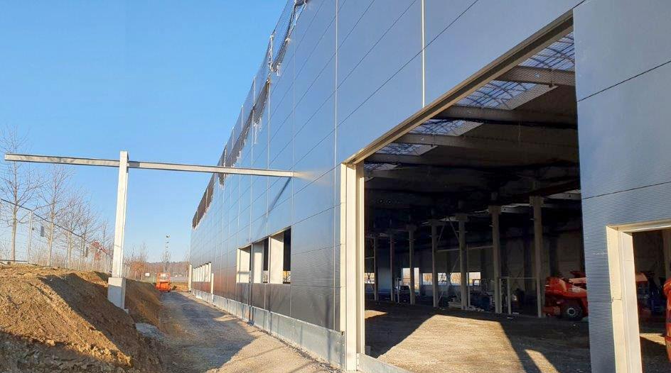 SF-Bau-Fassade-Neubau Produktionshalle + Verwaltungsbau-Pforzheim-Schlüsselfertigbau