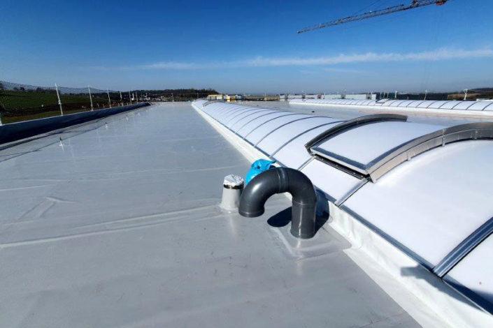 SF-Bau-Dachabdichtung-Neubau Produktionshalle+Verwaltungsbau-Pforzheim-Schlüsselfertigbau